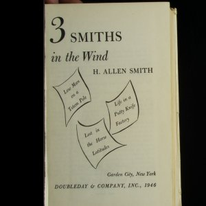 antikvární kniha Three Smiths in the Wind, 1946