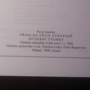 antikvární kniha Přehled dějin evropské hudební tvorby, 1998