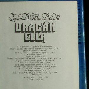 antikvární kniha Uragán Ella, 1983