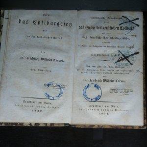 antikvární kniha Ueber das Cölibatsgesetz des römisch-katholischen Klerus. (Díl 1, I Band), 1832
