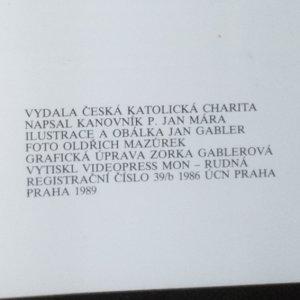 antikvární kniha Práce a poslání české katolické charity, 1989