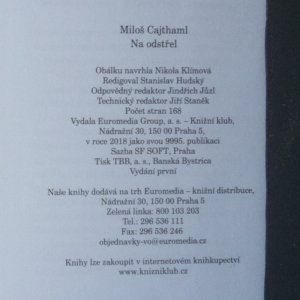 antikvární kniha Na odstřel, 2018