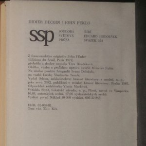 antikvární kniha John Peklo, 1981