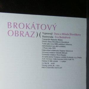 antikvární kniha Brokátový obraz , 1978
