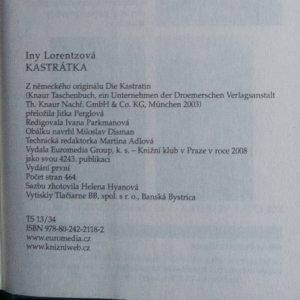 antikvární kniha Kastrátka, 2008