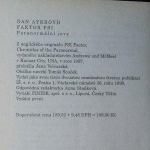 antikvární kniha Faktor PSI. Paranormální jevy, 1999