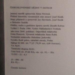 antikvární kniha Československé dějiny v datech, 1986