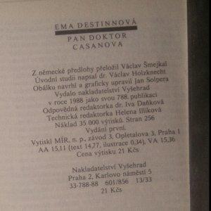 antikvární kniha Pan doktor Casanova, 1988