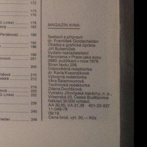 antikvární kniha Magazín kina, 1979
