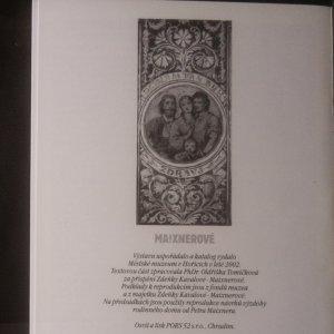 antikvární kniha Maixnerové, 2002