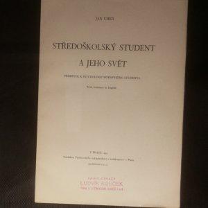 antikvární kniha Středoškolský student a jeho svět , 1939