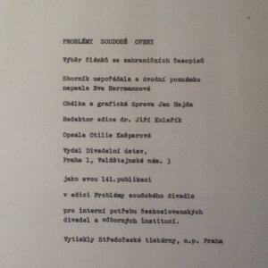 antikvární kniha Problémy soudobé opery, neuveden