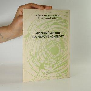 náhled knihy - Moderní metody rozměrové kontroly