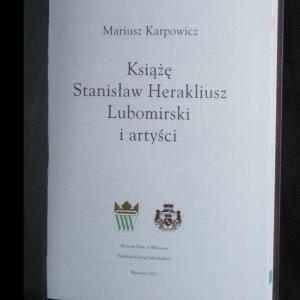 antikvární kniha Książę Stanisław Herakliusz Lubomirski i artyści, 2012