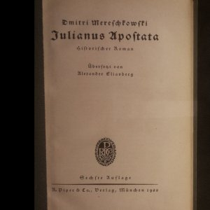 antikvární kniha Julianus Apostata, 1922