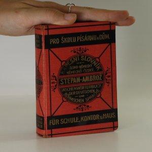náhled knihy - Kapesní slovník česko-německý, německo-český