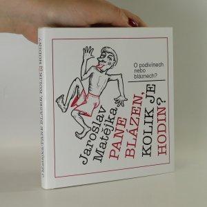 náhled knihy - Pane blázen, kolik je hodin?