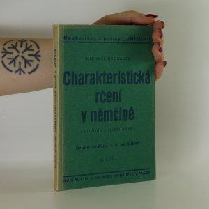 náhled knihy - Charakteristická rčení v němčině s příklady a vysvětlivkami