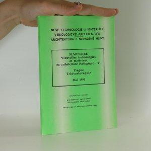 náhled knihy - Nové technologie a materiály v ekologické architektuře. Architektura z nepálené hlíny.
