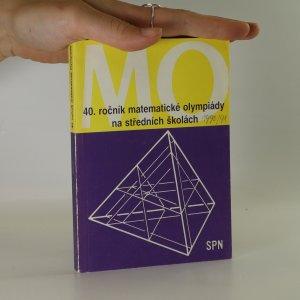 náhled knihy - 40. ročník matematické olympiády na středních školách