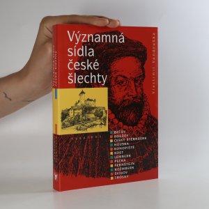 náhled knihy - Významná sídla české šlechty