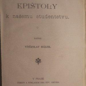 antikvární kniha Epištoly k našemu studenstvu, 1898