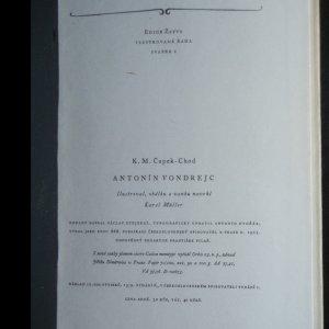 antikvární kniha Antonín Vondrejc, 1955