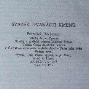 antikvární kniha Svazek dvanácti kmenů, 1988