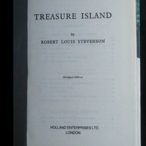 antikvární kniha Treasure island, neuveden