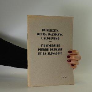 náhled knihy - Univerzita Petra Pázmánya a Slovensko (1935-1935)