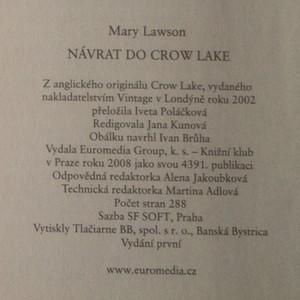 antikvární kniha Návrat do Crow Lake, 2008