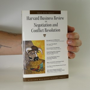 náhled knihy - Harvard business review on negotiation and conflict resolution