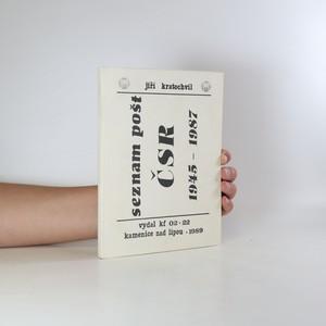 náhled knihy - Seznam pošt ČSR 1945-1987