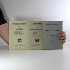 náhled knihy - 3x Přednášky a rozpravy společnosti přátel antické kultury (viz foto)