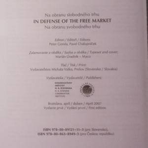 antikvární kniha Na obranu svobodného trhu. In defense of the free market. Na obranu svobodného trhu, 2007