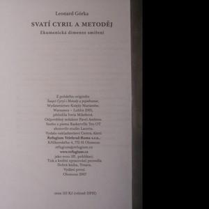 antikvární kniha Svatí Cyril a Metoděj. Ekumenická dimenze a smíření, 2007