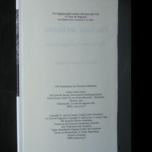 antikvární kniha Das Land der Herren. Eine korsische Familiengeschichte, 1990