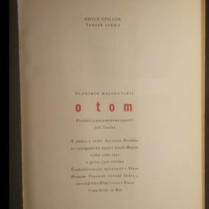 antikvární kniha O tom, 1950