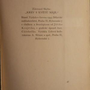 antikvární kniha Krev s květů máje, 1945