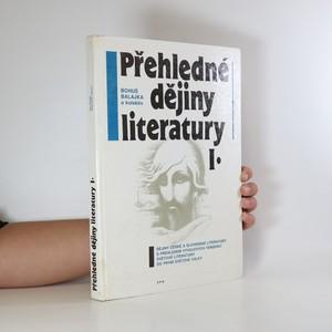 náhled knihy - Přehledné dějiny literatury I.