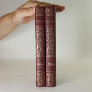 antikvární kniha Tajnosti pařížské (2 svazky, viz foto), 1929