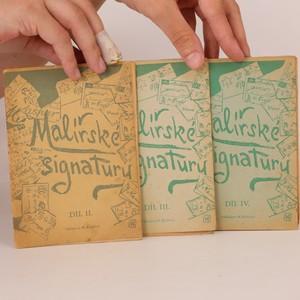 náhled knihy - Malířské signatury (3 svazky, viz foto)