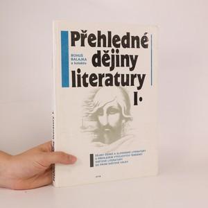 náhled knihy - Přehledné dějiny literatury. Díl I