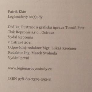 antikvární kniha Legionářovy os(t)udy (podpis autora), 2011
