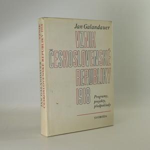 náhled knihy - Vznik Československé republiky 1918
