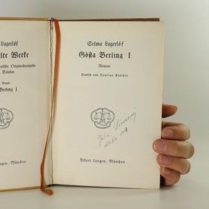 antikvární kniha Gosta Berling (2 svazky, komplet), neuveden