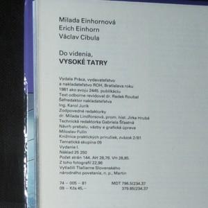 antikvární kniha Do videnia, Vysoké Tatry, 1981