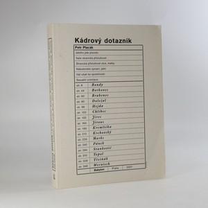 náhled knihy - Kádrový dotazník