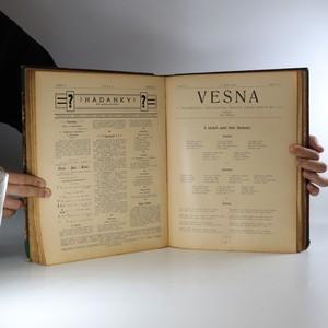 antikvární kniha Vesna, ročníky II. a III. v jednom svazku, 1905, 1906