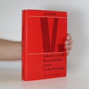 náhled knihy - Protokol V. řádného sjezdu Komunistické strany Československa 18.-23. února 1929